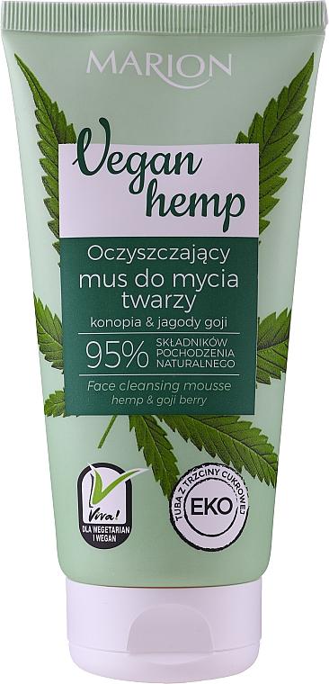 Reinigende Gesichtswaschmousse für das Gesicht mit Hanfsamenöl und Goji-Beere - Marion Vegan Hemp Hemp & Goji Face Cleansing Mousse