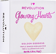 Düfte, Parfümerie und Kosmetik Gebackener Highlighter - I Heart Revolution Blushing Hearts Highlighter