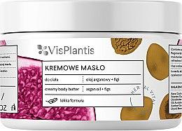 Düfte, Parfümerie und Kosmetik Cremige Körperbutter mit Arganöl und Feigen - Vis Plantis Herbal Vital Care Creamy Body Butter Argan Oil and Figs