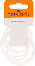 Düfte, Parfümerie und Kosmetik Haargummis 22807 weiß 6 St. - Top Choice Hair Bands Silicone