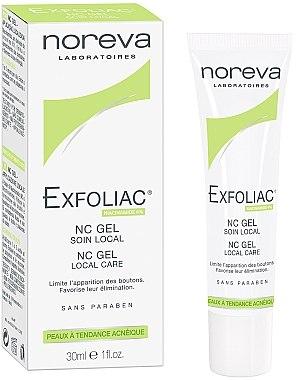 Gesichtsgel für lokale Hautpflege gegen Akne - Noreva Laboratoires Exfoliac Gel-NC  — Bild N1