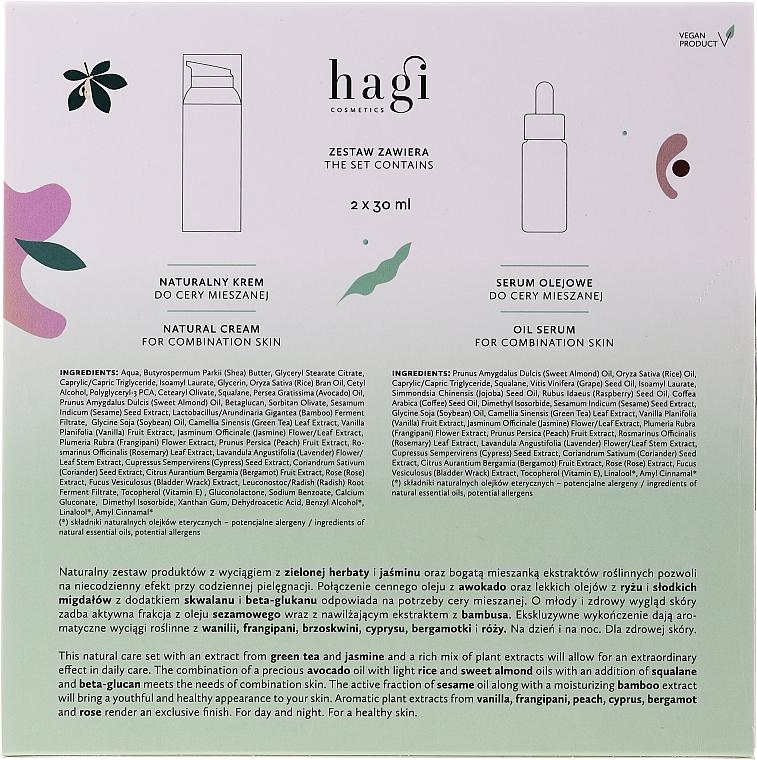 Gesichtspflegeset - Hagi Natural Face Care Set (Natürliche Gesichtscreme 30ml + Natürliches Gesichtsserum 30ml) — Bild N2