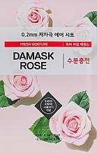Düfte, Parfümerie und Kosmetik Feuchtigkeitsspendende Tuchmaske für das Gesicht mit Damaszener-Rosen-Extrakt - Etude House Therapy Air Mask Damask Rose