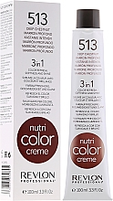 Düfte, Parfümerie und Kosmetik 3in1 Tönungscreme-Balsam für Farbauffrischung, Geschmeidigkeit und Glanz der Haare - Revlon Professional Nutri Color Creme 3in1