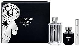 Düfte, Parfümerie und Kosmetik Prada L'Homme Prada - Duftset (Eau de Toilette 100ml + Duschgel 100ml + Eau de Toilette Mini 10ml)