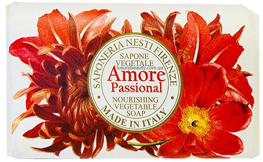 Pflegende Seife mit Vanillen-, Mandel- und Orangenduft - Nesti Dante Amore Passional Nourishing Vegetable Soap