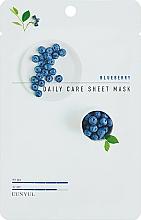 Düfte, Parfümerie und Kosmetik Entspannende beruhigende und feuchtigkeitsspendende Anti-Falten Tuchmaske für das Gesicht mit Blaubeerextrakt - Eunyul Daily Care Mask Sheet Blueberry