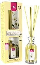 Düfte, Parfümerie und Kosmetik Aroma-Diffusor mit Duftstäbchen Jasmin und weiße Blumen - Cristalinas Reed Diffuser