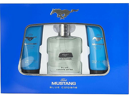 Ford Mustang Blue - Duftset (Eau de Toilette 100ml + Duschgel 100ml + After Shave Balsam 75ml) — Bild N1