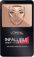 Düfte, Parfümerie und Kosmetik Konturierpalette für das Gesicht - L'Oreal Paris Infallible Pro-Contour Contour & Highlight Palette