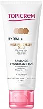 Düfte, Parfümerie und Kosmetik Feuchtigkeitsspendende Selbstbräunungscreme für Gesicht und Hals - Topicrem Hydra+ Radiance Progressive Tan
