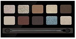 Düfte, Parfümerie und Kosmetik Lidschattenpalette mit 10 Farben - Pierre Rene Palette Match System Eyeshadow Desert Shine