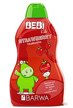 """Düfte, Parfümerie und Kosmetik 2-in-1 Baby Shampoo und Badeschaum """"Erdbeere"""" - Barwa Bebi Kids Shampoo And Bubble Bath"""