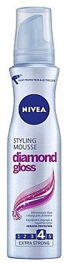 "Haarmousse ""Diamond Gloss"" Extra starker Halt - Nivea Hair Care Diamond Gloss Styling Mousse  — Bild N1"