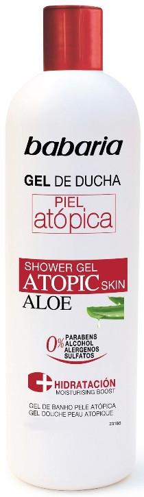 Feuchtigkeitsspendendes Duschgel mit Aloe Vera für atopische Haut - Babaria Atopic Shower Gel — Bild N1