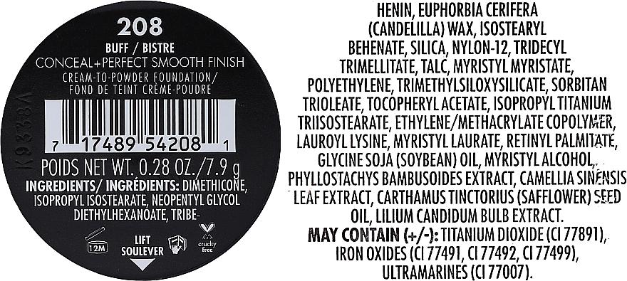 Cremige Puder-Foundation mit mattem Finish - Milani Conceal + Perfect Smooth Finish Cream To Powder — Bild N10
