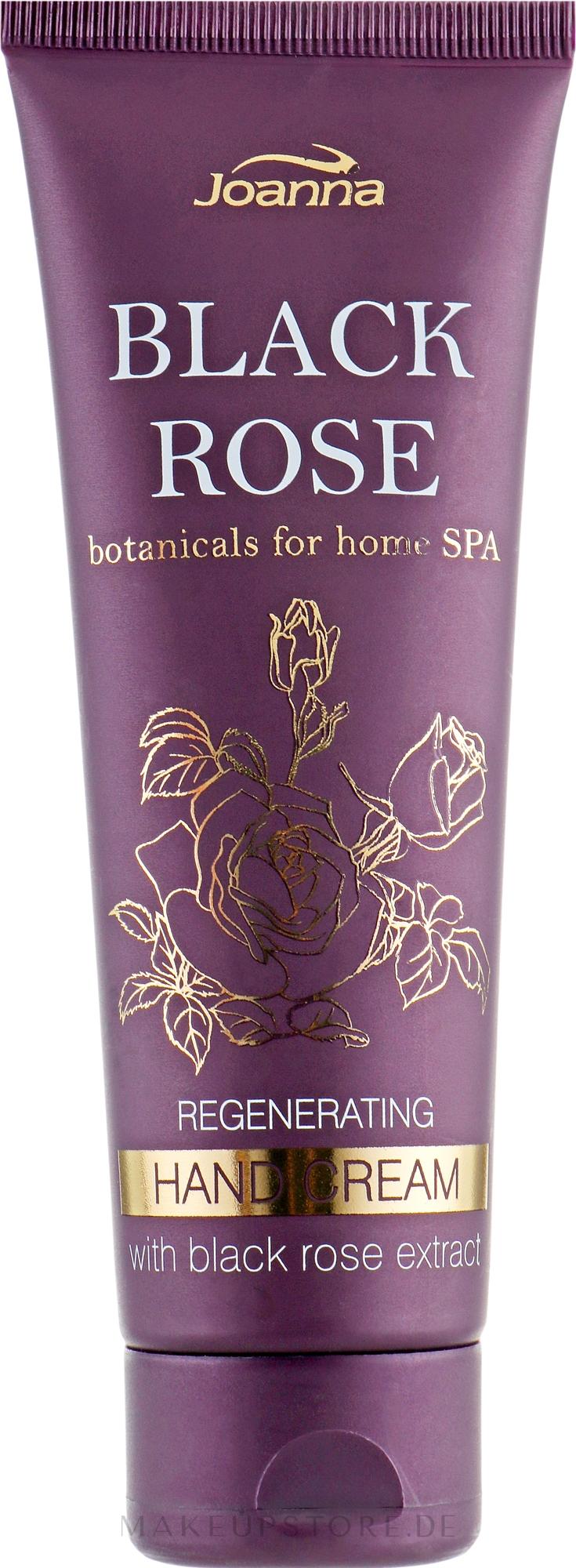 Regenerierende Handcreme mit Extrakten aus schwarzer Rose - Joanna Botanicals For Home Spa Regenerating Hand Cream Black Rose — Bild 75 g