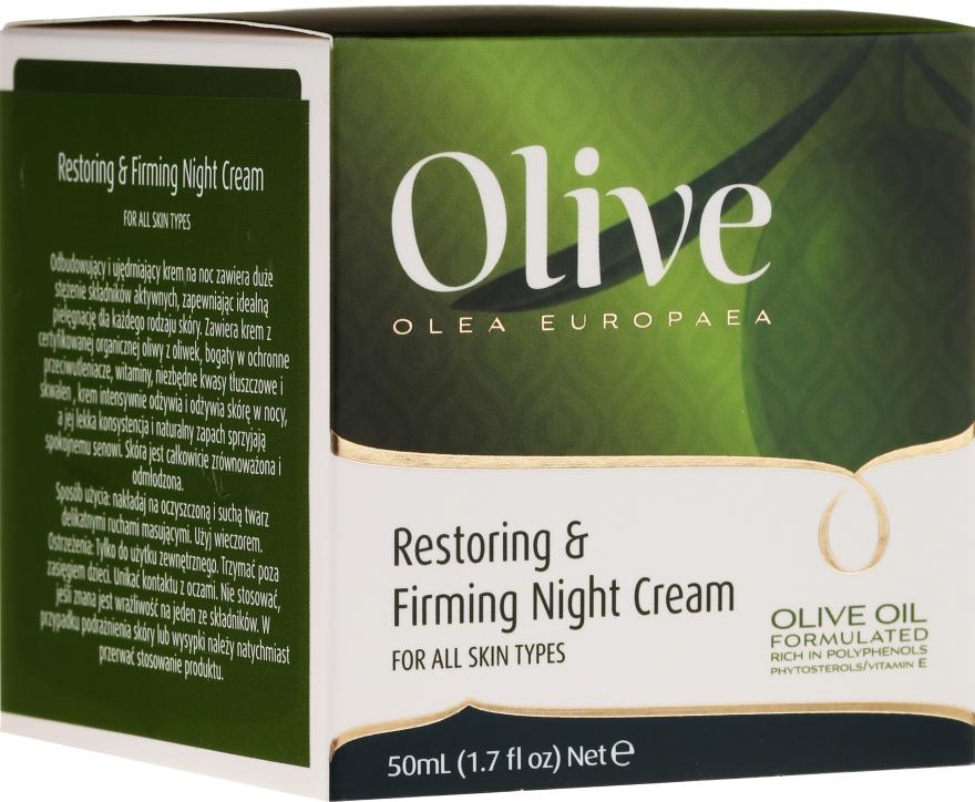 Regenerierende und straffende Nachtcreme mit Olivenöl - Frulatte Olive Restoring Firming Night Cream