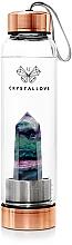 Düfte, Parfümerie und Kosmetik Wasserflasche mit Fluorit 550 ml - Crystallove Fluorite Bottle Rose Gold