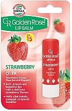 Düfte, Parfümerie und Kosmetik Lippenbalsam - Golden Rose Lip Balm Strawberry SPF15