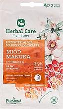 Düfte, Parfümerie und Kosmetik Gesichtsmaske mit Honig und Vitamin C - Farmona Herbal Care Manuka Honey Face Mask