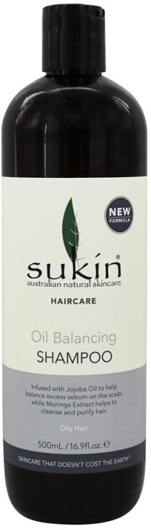 Shampoo für fettiges Haar mit Jojobaöl und Moringaextrakt - Sukin Oil Balancing Shampoo — Bild N1