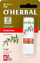 Düfte, Parfümerie und Kosmetik Pflegender Lippenbalsam mit Goji Beeren-Extrakt - O'Herbal Nourishing Lipstick with goji extract