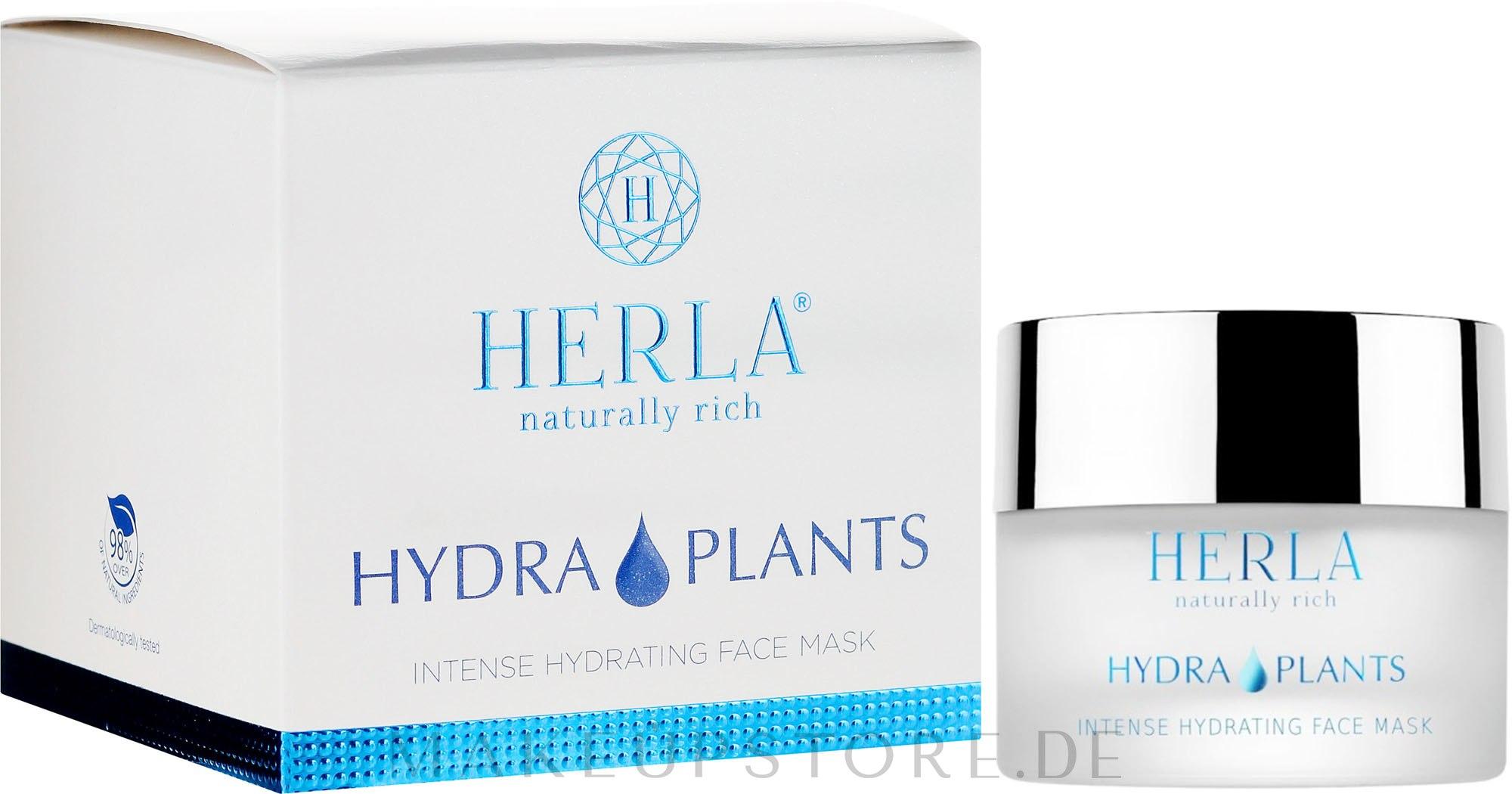 Feuchtigkeitsspendende Gesichtsmaske mit Hyaluronsäure - Herla Hydra Plants Intense Hydrating Face Mask — Bild 50 ml