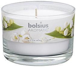 Düfte, Parfümerie und Kosmetik Duftglas Maiglöckchen - Bolsius Aromatic Candle 63 mm Ø 90 mm