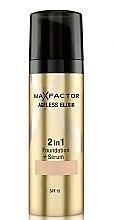 Düfte, Parfümerie und Kosmetik 2in1 Foundation & Gesichtsserum LSF 15 - Max Factor Ageless Elixir Miracle 2in1 Foundation + Serum