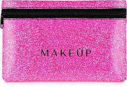 Düfte, Parfümerie und Kosmetik Kosmetiktasche Glitter Pouch rosa 18x11 cm - MakeUp