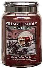 Duftkerze Cherry Coffee Cordial - Village Candle Cherry Coffee Cordial Petite Glass Jar — Bild N2
