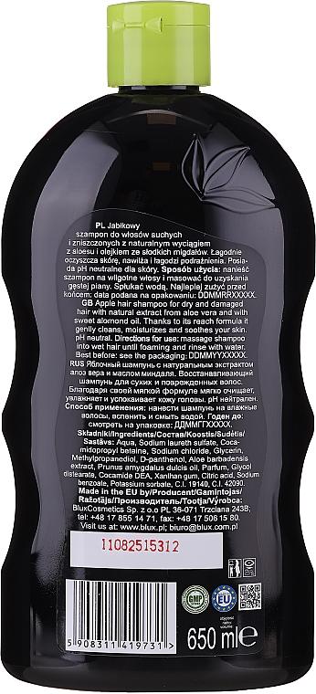 Shampoo mit Apfelduft für trockenes und stapaziertes Haar - Bluxcosmetics Naturaphy Apple Hair Shampoo — Bild N2