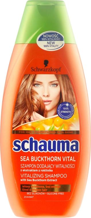 Vitalisierendes Shampoo mit Sanddorn-Extrakt für müdes, krafloses Haar - Schwarzkopf Schauma Shampoo — Bild N3