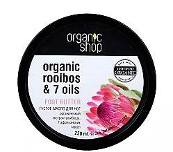 Düfte, Parfümerie und Kosmetik Fußbutter mit Rooibos und 7 Ölen - Organic Shop Organic Hibiscus & 7 Oils Foot Butter