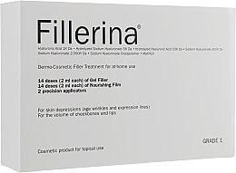 Düfte, Parfümerie und Kosmetik Dermo-kosmetische Gesichtsbehandlung Klasse 1 - Fillerina Dermo-Cosmetic Filler Treatment Grade 1 (Gesichtsgel 30ml + Gesichtscreme 30ml + Applikator 2St.)