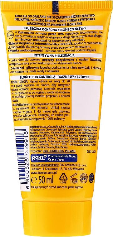 Sonnenschutzemulsion für Gesicht und Körper - Dax Sun Emulsion SPF50 — Bild N2