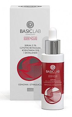 Gesichtsserum für die Nacht mit Retinol und Squalan - BasicLab Dermocosmetics Esteticus Serum Retinol 2% — Bild N1