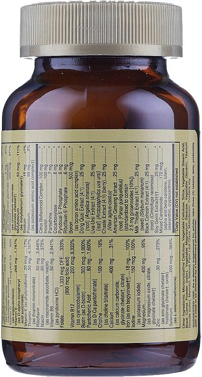 Nahrungsergänzungsmittel Vitamin- und Mineralkomplex für Frauen - Solgar Female Multiple — Bild N6