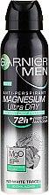 Düfte, Parfümerie und Kosmetik Deospray Antitranspirant - Garnier Mineral Men Mineral Magnesium Ultra-Dry Anti-Perspirant Spray