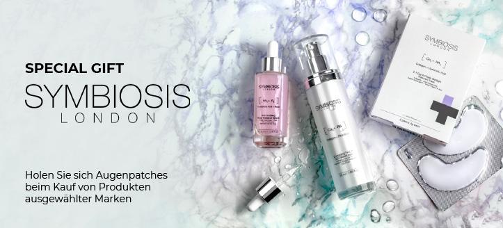 Holen Sie sich Augenpatches Symbiosis London geschenkt beim Kauf von Produkten ausgewählter Marken