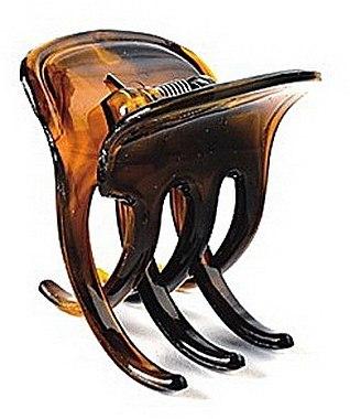 Haarklammer FA-5803; klein, bernsteinbraun - Donegal — Bild N1