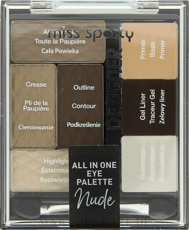Make-up Palette - Miss Sporty Designer All In One Eye Palette — Bild 100 - Nude