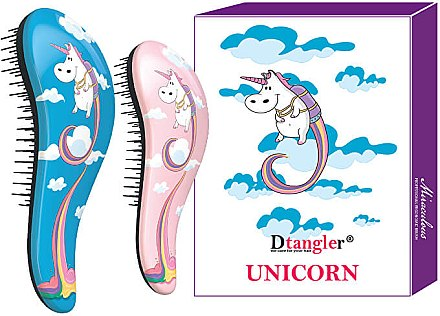 Entwirrbürste blau, rosa 2 St. - KayPro Dtangler Unicorn — Bild N1