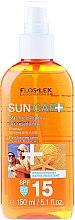 Düfte, Parfümerie und Kosmetik Trockenes Sonnenschutzöl-Spray für Körper und Haar SPF 15 - Floslek Sun Care Dry Oil Tanning Spray SPF15