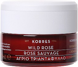Düfte, Parfümerie und Kosmetik Feuchtigkeitsspendende Tagescreme mit wilder Rose - Korres Wild Rose Brightening & First Wrinkles Day Cream