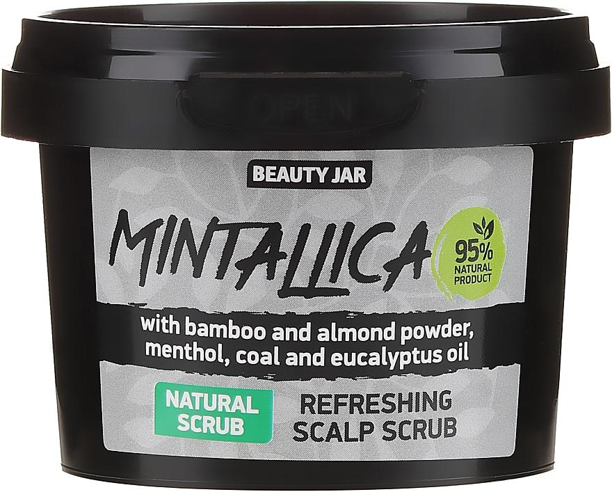 Erfrischendes Kopfhautpeeling mit Bambus- und Mandelpulver, Menthol, Aktivkohle und Eukalyptusöl - Beauty Jar Mintallica Refreshing Scalp Scrub — Bild N1