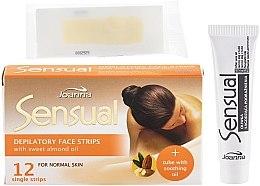 Enthaarungswachsstreifen für das Gesicht mit Mandelöl - Joanna Sensual Depilatory Face Strips — Bild N2