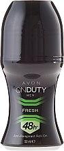 Düfte, Parfümerie und Kosmetik Deo Roll-on Antitranspirant - Avon On Duty Men Fresh 48H Anti-persrirant Roll-On
