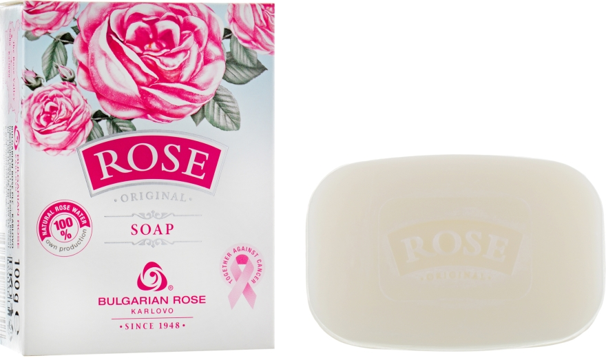 Parfümierte Körperseife - Bulgarian Rose Rose Original Soap — Bild N1